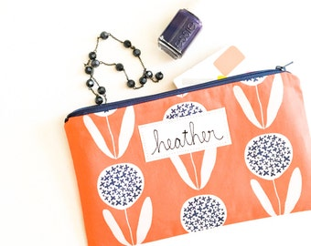 Personalized Add On for Mama Bleu Designs Zipper Pouches, Zipper Bags are SOLD SEPARATELY