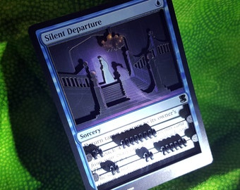 Layer Art- 3D- Life Counter: Silent Departure - Magic the Gathering