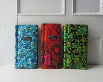 "6 Vintage Photo Albums - Colorful Floral Album Collection - Poloroid and 3"" x 4"" Photo Albums"