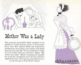 Vintage Mid Century Original Aurelius Battaglia Illustration - Mother Was A Lady