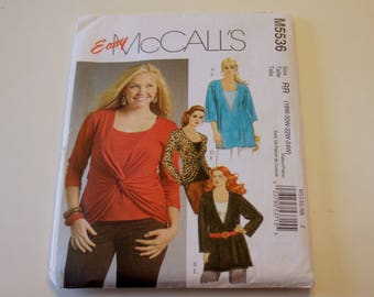 McCall's M5536: Misses' and Women's Tunics and Top Sizes 18W, 20W, 22W, 24W UNCUT