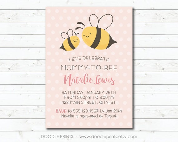 Baby shower invitation mommy to bee baby shower invitation il570xn filmwisefo