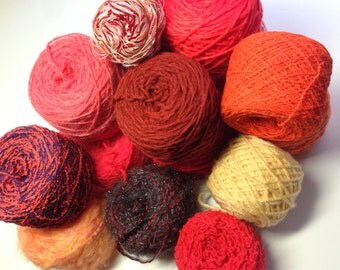 Mystery Yarn Boxes, Refresh Your Stash, Blazing Hot Fire Colorway, Knitting and Crochet Supplies