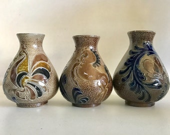 Small Mexican Folk Art Vases - Set of 3