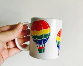 Rainbow Hot Air Balloon Mug Especially For You Retro Mug 1980s