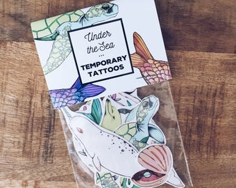 Sweet Beach Temporary Tattoos - 1 Pack