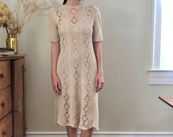 Crochet lace floral dress