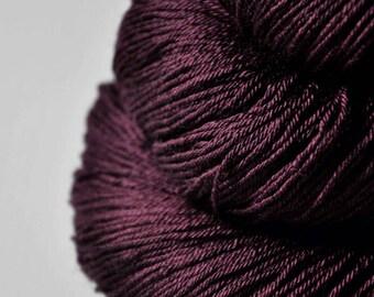 Dark blood velvet - Merino/Silk Fingering Yarn Superwash