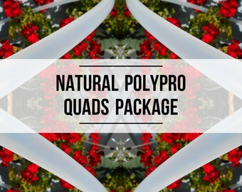 Quads Set: Four Natural Polypro Hula Hoops with Custom Tubing Size, Diameters and Grip Options!