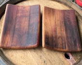 two medium trays from reclaimed wine barrel staves