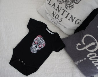 Olivia Paige - Rockabilly baby punk rock sugar skull skeleton bodysuit