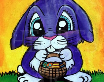 Easter Bunny Giclee Art Print