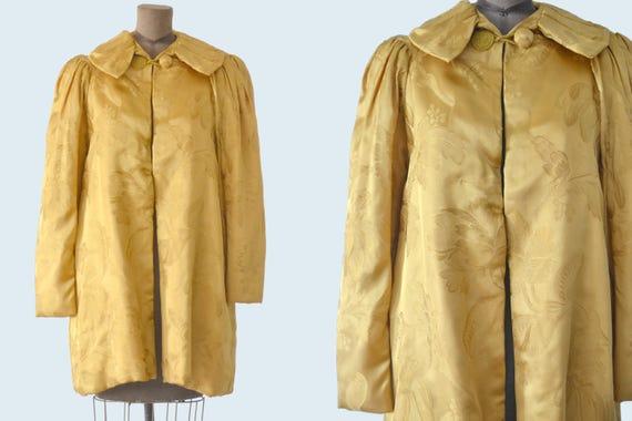 1930s Gold Brocade Jacket size M