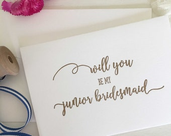 Junior Bridesmaid Proposal - Will You Be My Junior Bridesmaid - Junior Bridesmaid Card -Asking Bridesmaid -Bridesmaid Proposal -Wedding Card