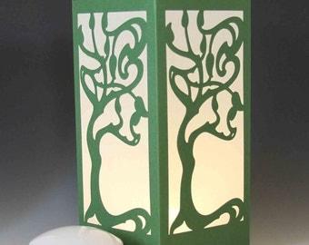 Art Nouveau Tree Laser cut Luminary Table Lamp Centerpiece - #23