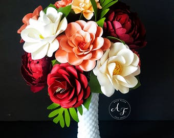 Paper Flowers - Wedding - Birthday - Special Events - LOOSE stemmed Flowers - Custom Orders - Wide Variety Of Colors - Set of 24