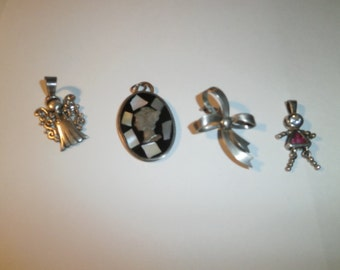 Vintage Mix Lot, 925 Sterling, Pend/pin, mix lot, assorted Angle, Cameo, Ribbon