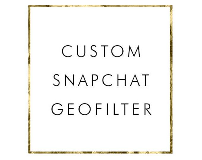 Custom Snapchat Geofilter