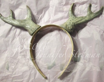 custom made Antlers, handmade, hand painted, costume horns, Satyr, deer, buck, color choices, made to order faux antlers