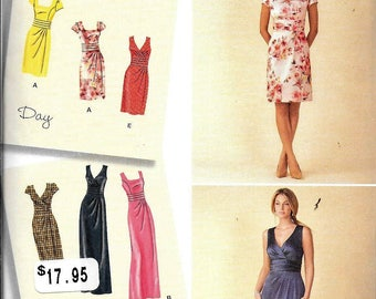Simplicity 1420 Sewing Pattern Misses Plus Dress & Bodice Variations Sleeveless Day Or Evening UNCUT Size 16, 18, 20, 22, 24