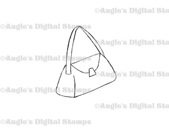 Purse Digital Stamp Image