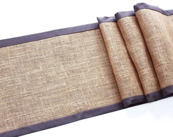 Custom Burlap Table Runner - Modern Rustic Table Decoration - Double Sided Table Runner - Reversible