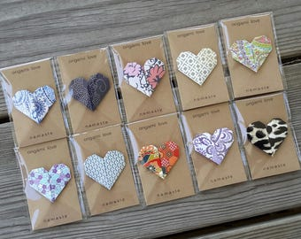 Namaste Origami Heart Gift Card/Love Note