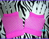 Add a pair of mesh gloves to your 80s shirt hot pink fingerless gloves 80s gloves pink mesh gloves 80s party 80s theme 80s costume