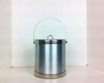 Vintage Georges Briard Silver Gold Ice Bucket