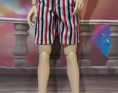 60cm BJD SD/SD13 Red White Blue shorts