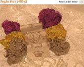 Sale Scrunched Seam Binding ribbon,  Crinkled Seam Binding Package Jolie ECS