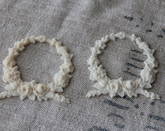 Resin wreath furniture applique - ONE per order - multiple availalble