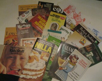 A to Z Vintage Cook Booklets Recipe Books & Advertising Brand Cookbooks Instant Collection Lot of 25 Argo to pretZels Fun For All Recipes