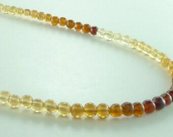 Hessonite Garnet (Shaded) Chakra Necklace All Natural Semi-Precious Stones Healing Metaphysical