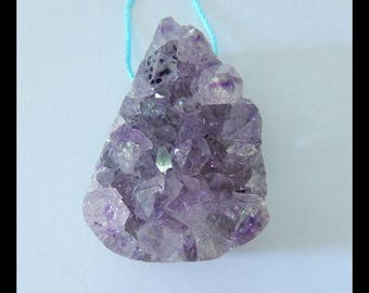 Nugget Drusy Geode Amethyst Pendant Bead,33x24x20mm,21.4g(e0818)