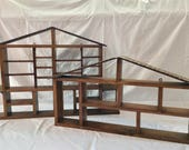Pair of House Display Shelves, collection display, shadow box