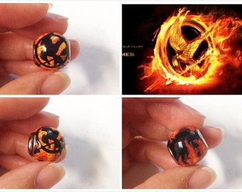 GUO GUO'S-  The Hunger Games Inspired Mockingjay European style large Hole Bead Charm / Made to order