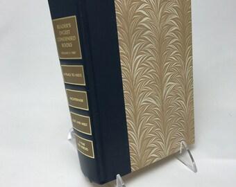 Book Letter Handmade Vintage Condensed Readers Digest Upcycled Tan C0006