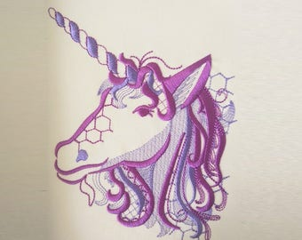 Awesome shadow swirls Unique and awesome unicorn embroidery machine embroidery designs assorted sizes for hoops 4x4, 5x7 and 6x10