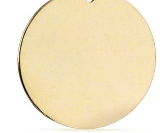Stamping Disc, Round Blank, 14Kt Gold Filled, 20mm 24 Gauge - 1 Pc Wholesale Price (11597)/1
