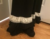 Women's Black Ruffle ...