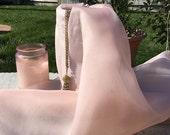 Blush Pink Pure Silk Organza by the yard