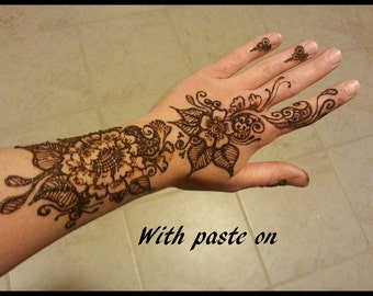 Henna Tattoo Paste Chemical Free with Essential Oils Safe Natural Artist Mixed