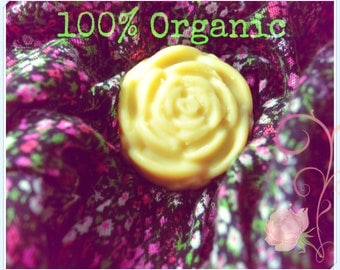 Organic Lavender Lotion Bar for Dry Skin and Henna Tattoo Aftercare 2 oz