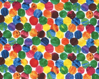The Very Hungry Caterpillar Multi Spots 3474-M by Eric Carle for Andover Fabrics