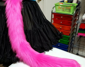 READY TO SHIP! Hot Pink Kitty Tail