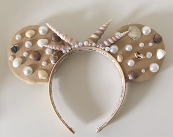 Sea witch goddess shell crown ears SALE
