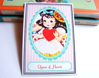 Small Ready to Frame Print * Queen Of Hearts Mother Goose Fairy Tale Nursery Rhyme Girls Kids Room Bedroom Home Decor