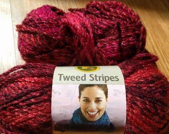 1.75 skeins of Lion Brand Tweed Stripes