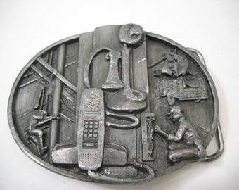 American Communications Telephone System Belt Buckle Free Shipping